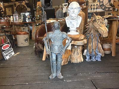 Medieval Knight Suit Of Armor Small  Body Stand Rustic