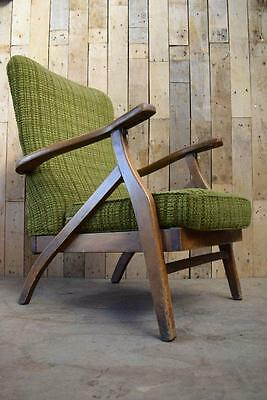 Retro Vintage Mid Century Danish Inspired Art Deco Reclining Easy Armchair