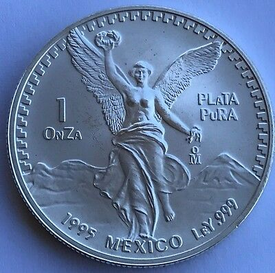 1995 Mexico Silver Libertad Uncirculated 1oz .999 ONLY 500,000 MINTED!