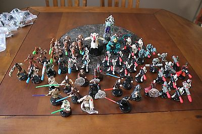 Star Wars Attacktix Game Figures Lot of 65 from year 2005