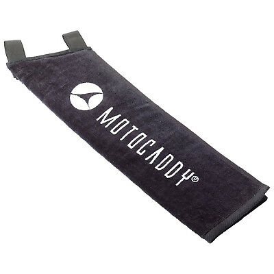 Motocaddy Deluxe Golf Trolley Towel New Cotton Absorbent (Black / White)