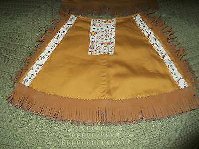 Vintage Children's Cowgirl Indian Style Skirt Size 6