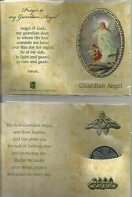 Prayer My Guardian Angel POCKET TOKEN COIN Angel from Heaven Pewter Token Coin