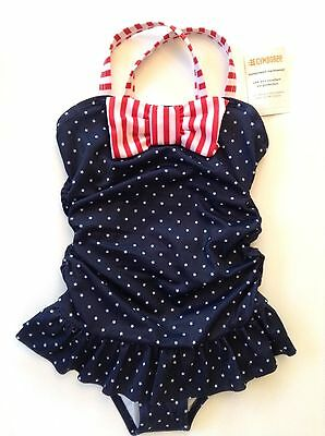 NWT Gymboree 18-24 Months Girls Swimsuit Star Red White Blue July 4th One Piece