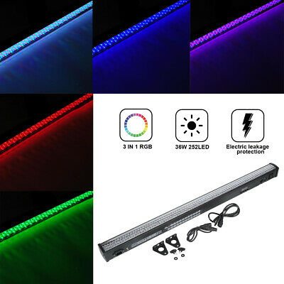 36W 252 LED RGB Wall Wash Bar Light DMX512 Party Disco Stage Show Display