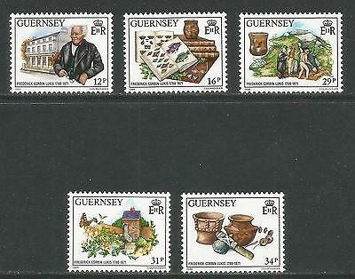 Guernsey 1988 Frederick Corbin Lukis--Attractive Science Topical (385-89) MNH