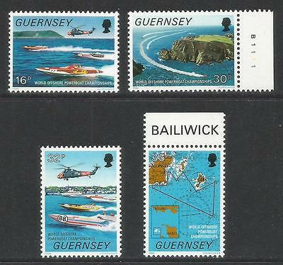 Guernsey 1988 Powerboat Championships--Attractive Sports Topical (390-93) MNH