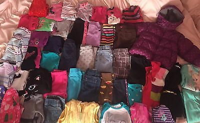 Girls Size 2T 24 Months Lot Of Clothes Outfits Tops Pants Pajamas Fall Winter
