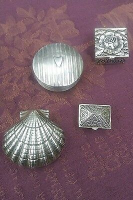 Solid silver pill box collection