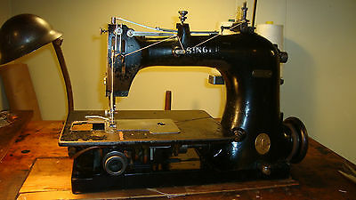 Vintage Singer 147-82 Chainstitch Industrial Sewing Machine for denim Heavy.