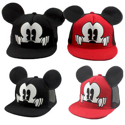 Children Summer Mesh Hat Mickey Ear Caps Baseball Caps With Ears Spring Sun Hat