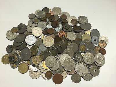 Lot of 3+ lbs of Foreign World Coins Bulk lot from an estate