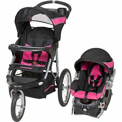 Baby Trend Expedition Jogger Travel System Bubblegum 3in1 Stroller Car Seat