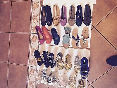 NEW Lot 20 Pair GREAT BRANDS SHOES Sandals Wedges Heels Boots Slip-On Sizes 5-10