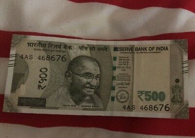 India 500 Rupees  Indian Currency Money Bill Note - Us Seller