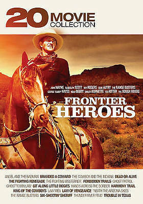 Frontier Heroes: 20 Movie Western Collection (DVD, 2016, 4-Disc Set) Brand New