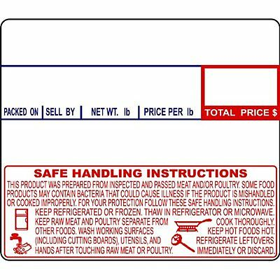 CAS LST-8030 Printing Scale Label, 58 x 50 mm, Non-UPC/Safe Handling