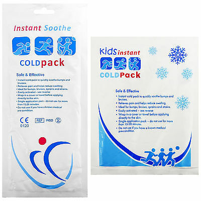 CMS Disposable Medical Sports Injury Instant Freeze Ice Cold Packs Large/Small
