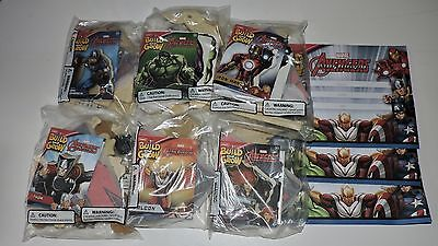 NIP Lowes Build and Grow Marvel Avengers  COMPLETE SET 6 SEALED KITS Certificate