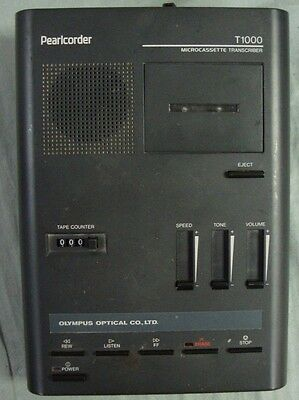 Olympus Pearlcorder T1000 Microcassette Transcriber Computer Office Dictation
