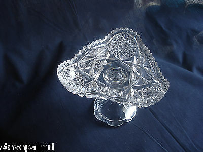 ABP Cut Glass Compote American Brilliant Period 02226