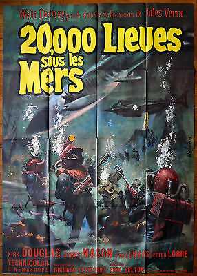 20,000 LEAGUES UNDER THE SEA - French movie poster 47x63 - Richard Fleischer '54