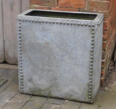 Neat Riveted Galvanised Water Tank Trough Industrial Garden Planter