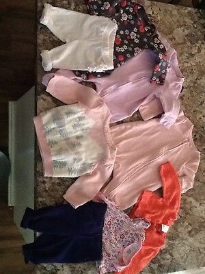 baby girl clothing lot size newborn to 3 months. baby gap and carters