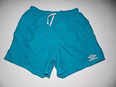 Umbro Unisex Shorts Size Medium 100% Nylon Elastic Waist Pull String Blue