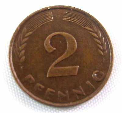 SALE 2 Pfennig 1958G Germany Federal Republic