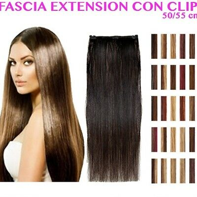 CLIP HAIR EXTENSION CAPELLI VERI NATURALI 50/55 cm SOCAP ORIGINAL