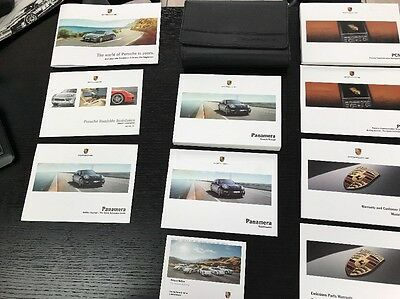 Porsche Panamera 2014 Owners Manual Books- Navigation - Luxe Case/ Free Shipping