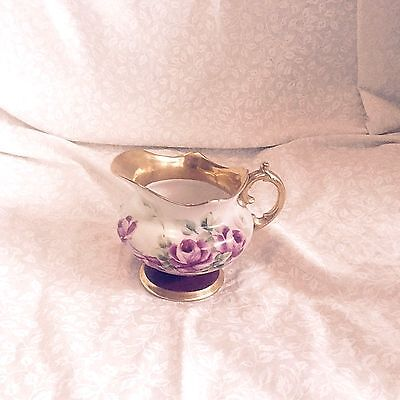 Beautiful Antique Hand Painted Roses & Gold Creamer !!