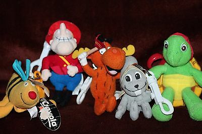Rocky & Bullwinkle and Friends Plush Figure Collectible Keychain: 5 Total