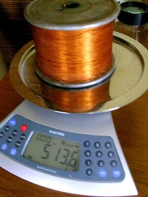5+ lbs BELDEN MAGNET WIRE 28 AWG NYLCLAD COPPER gauge Coil Winding NOS Spool
