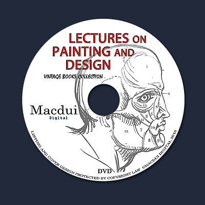 Lectures on Painting and Design Vintage Ebooks 2 PDF on 1 DVD Drawing Fuzeli