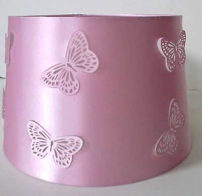 New Girls Pink Cut Out Butterfly Light Shade Lampshade Ceiling Table Lightshade