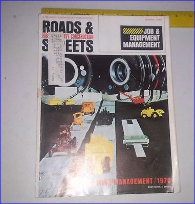 Vintage Construction Magazine Roads and Streets March 1970 over 200 pages Ads/Ar