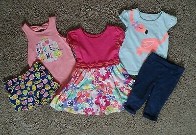 Baby or toddler girl Circo and other 24 months 2T summer dress shorts outfit lot