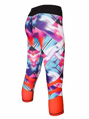 Blockout Gym Ice Cube Print 7/8 Length Runner Fitness Tights - Pink RRP $69-95