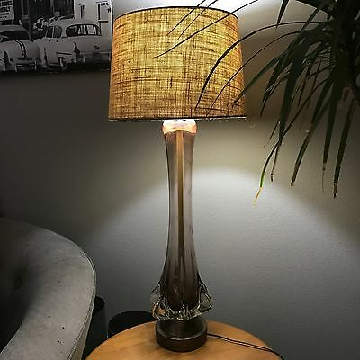 Vintage Murano Glass Lamp by Seguso 1950's