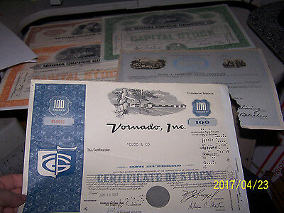 * 1960's, Other Old Collectible Stock Certificate Lot, United, Hovermarine....