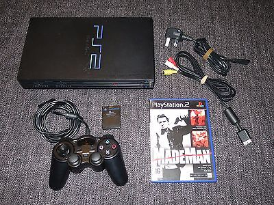 Sony Playstation 2 Ps2 Console Bundle With Controller Mem Card & Made Man Game