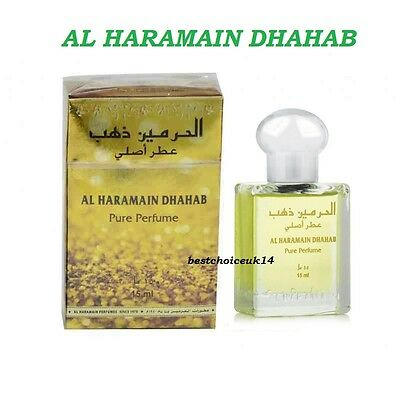 Haramain Dhahab 15ml by al haramain Famous Oriental Pleasant Perfume Oil/Attar