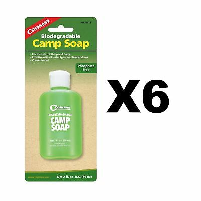 Coghlan's Biodegradable Concentrated Camp 2oz Non-Toxic Dish/Hand Soap (6-Pack)