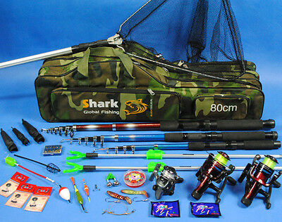 Fishing SET Complete set 3 Rods + Accessories, Fishing, SUPER set