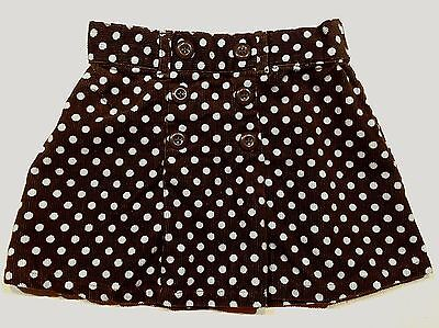 Gymboree Size 2T GIRLS BEST FRIEND Outlet Toddler Girls Brown Polka Dot Skirt