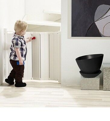 BabyDan Guard Me Baby Gate Retractable Safety Stair Door Metal Automatic Fold