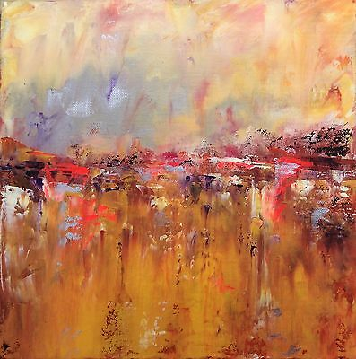 Original Landscape Abstract Painting By Sally Kelly