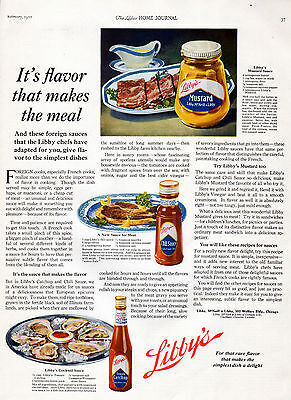1922 Libby's Catchup ad --Mustard & Chili Sauce ad ---=543